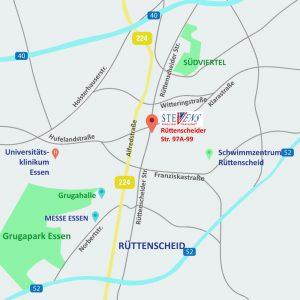 Karte Standort Essen