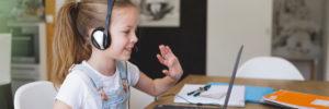 Auch in der Ferien Online Gruppe lernen die Kinder